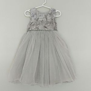 Silver occasion dress